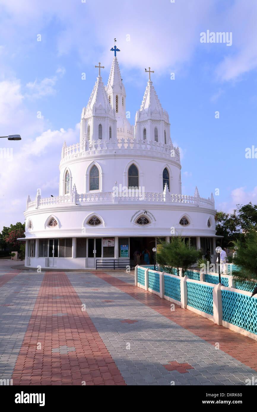 adoration chapel Vailankanni, Nagapattinam district, Tamil Nadu, India - Stock Image