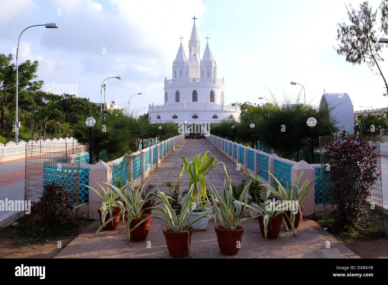adoration chapel, Vailankanni, Nagapattinam district, Tamil Nadu, India - Stock Image
