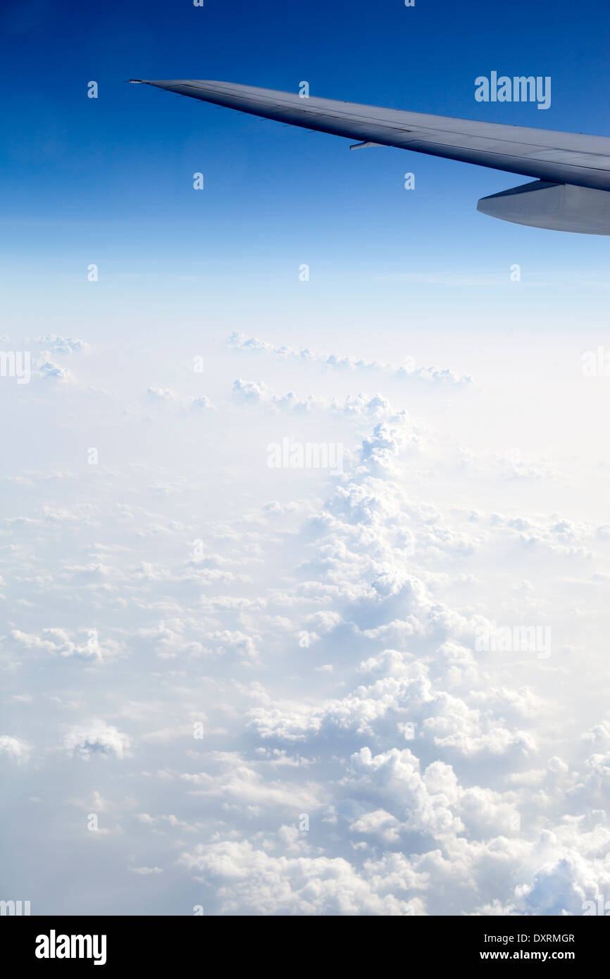 View from the window of an airplane flying above the Maldive Islands in the Indian Ocean 15 Stock Photo