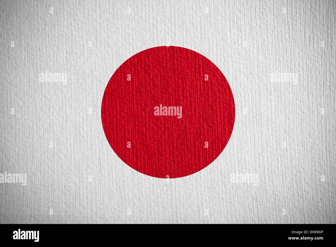 flag of Japan or Japanese banner on paper background Stock Photo
