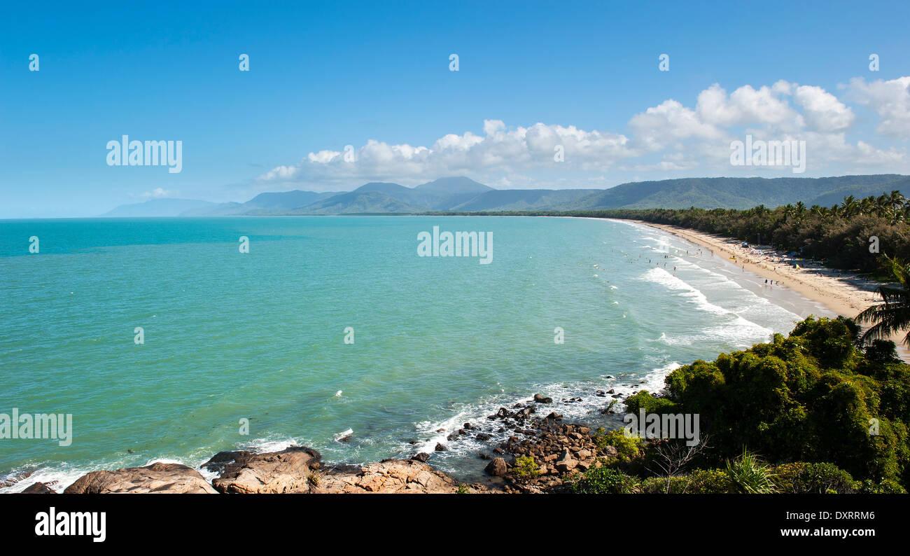 Port Douglas Beach, Queensland, Australia on a sunny spring day - Stock Image