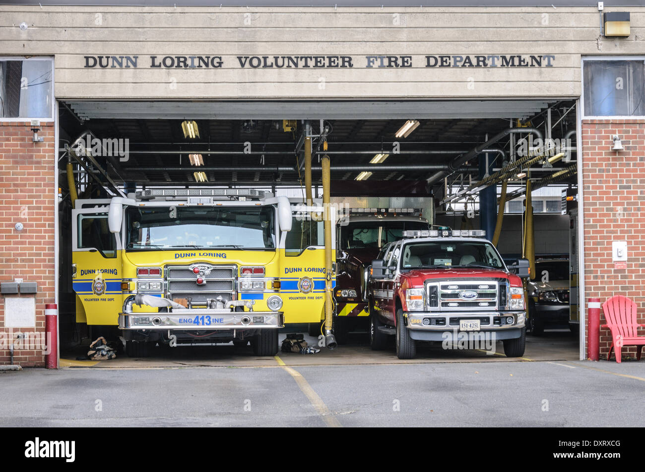 Dunn Loring Volunteer Fire Department, Gallows Road, Dunn Loring, Virginia - Stock Image