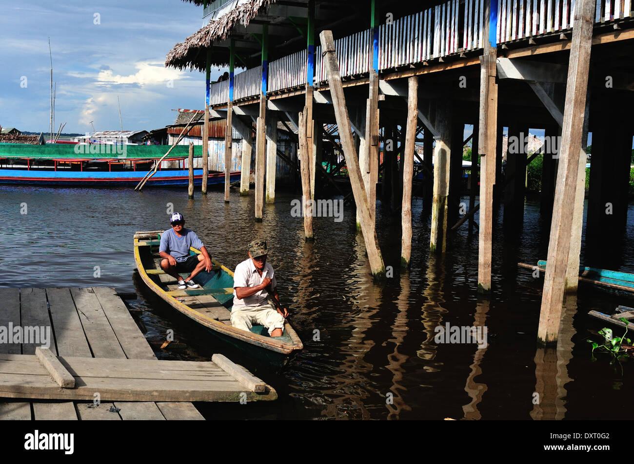 Port of Bellavista- Nanay in IQUITOS . Department of Loreto .PERU - Stock Image