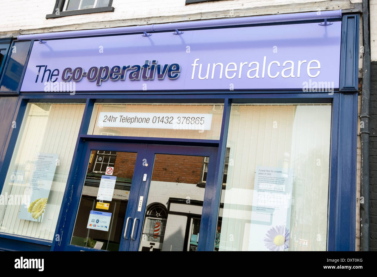 Co-operative funeral care shop in Hereford, UK. - Stock Image