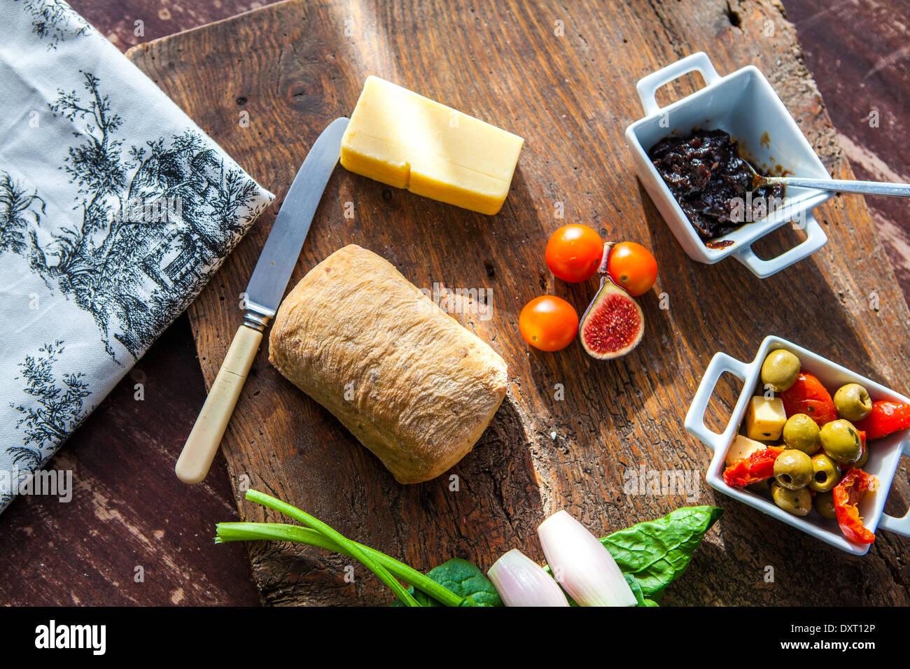 Gusto pub grazing board - Stock Image