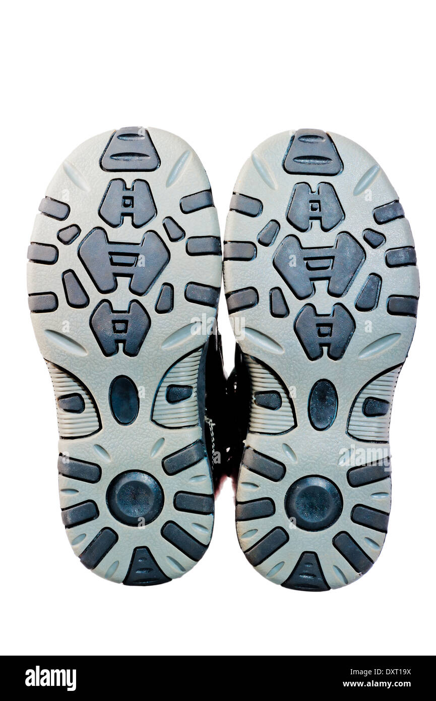 tread sole winter boots small size - Stock Image