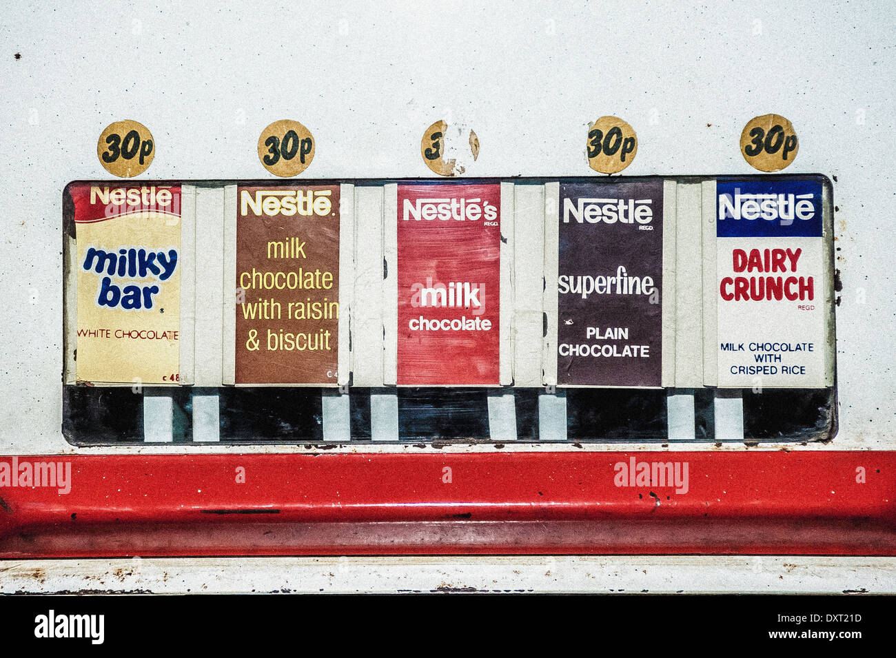 Old Vending Machine For Nestle Chocolate Bars Stock Photo