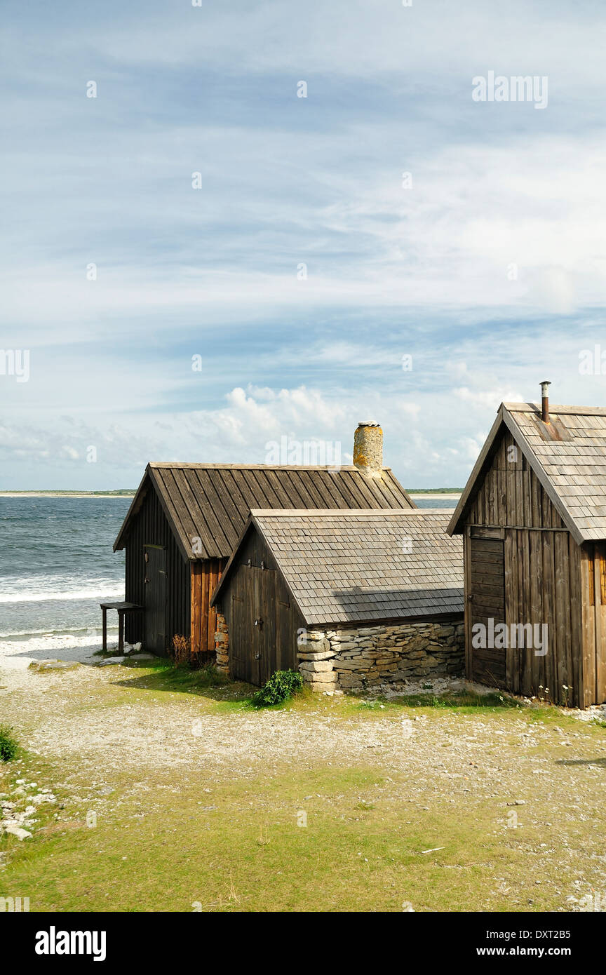 Fishing village, Gotland, Sweden. - Stock Image