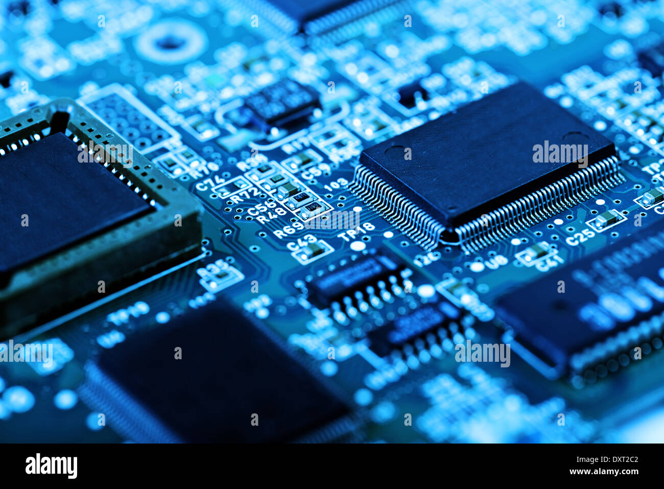 abstract close up mother board background - Stock Image