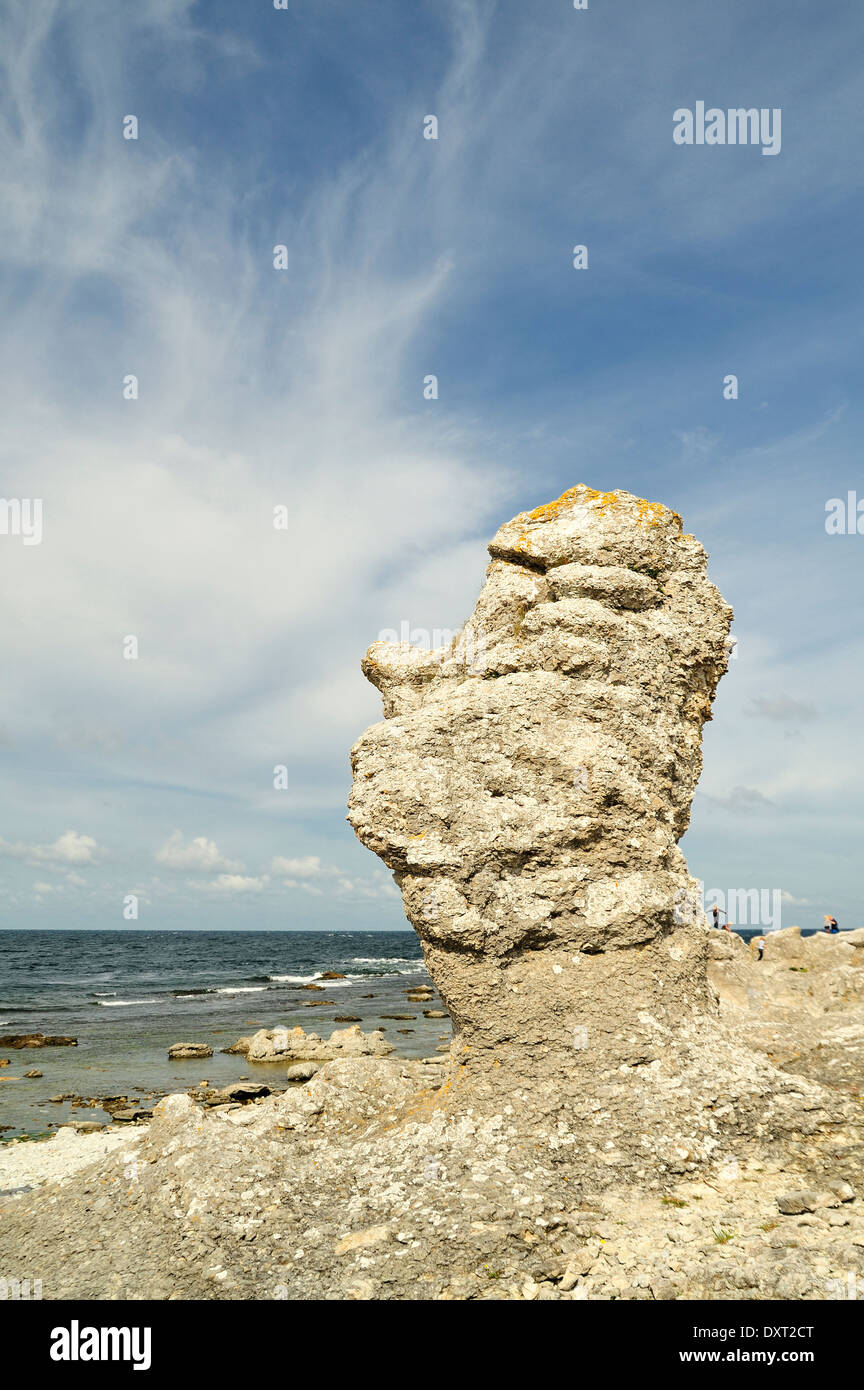 Limestone Formations on Gotland - Stock Image