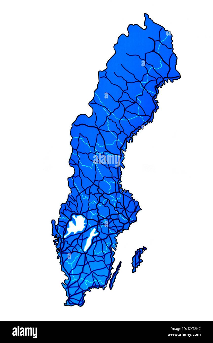 Sweden map - Stock Image