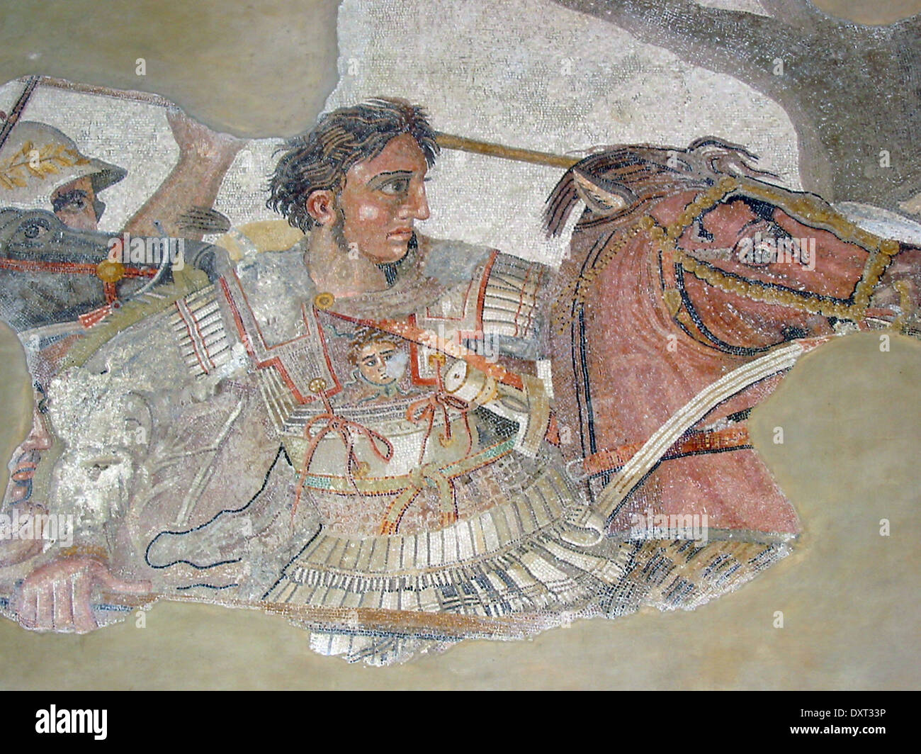 Alexander the Great on the Alexander Mosaic - Stock Image