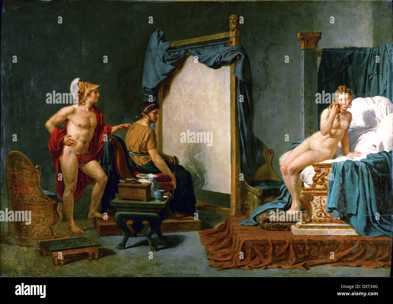 Apelles Painting Campaspe in the Presence of Alexander the Great - Stock Image