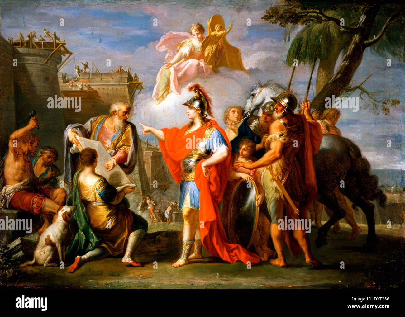 Alexander the Great Founding Alexandria - Stock Image