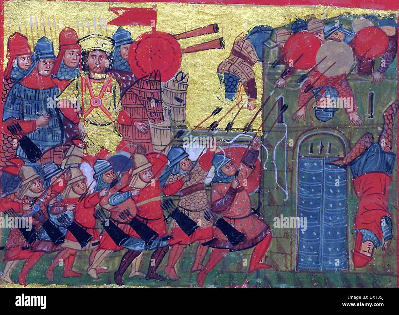 Alexander the Great and infantry invading Athens - Stock Image