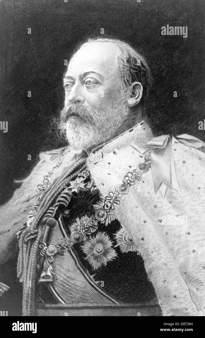Edward VII, King of England - Stock Image