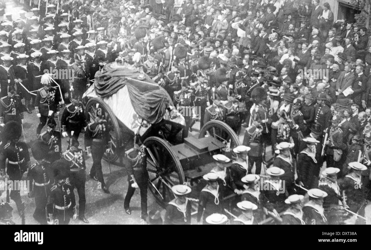The funeral procession of King Edward VII of England. - Stock Image