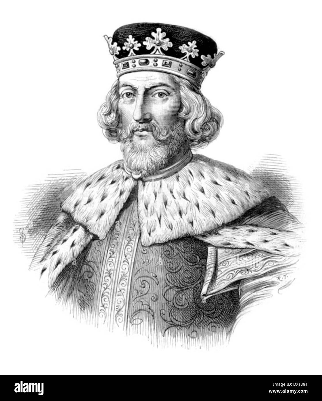 King John of England - Stock Image