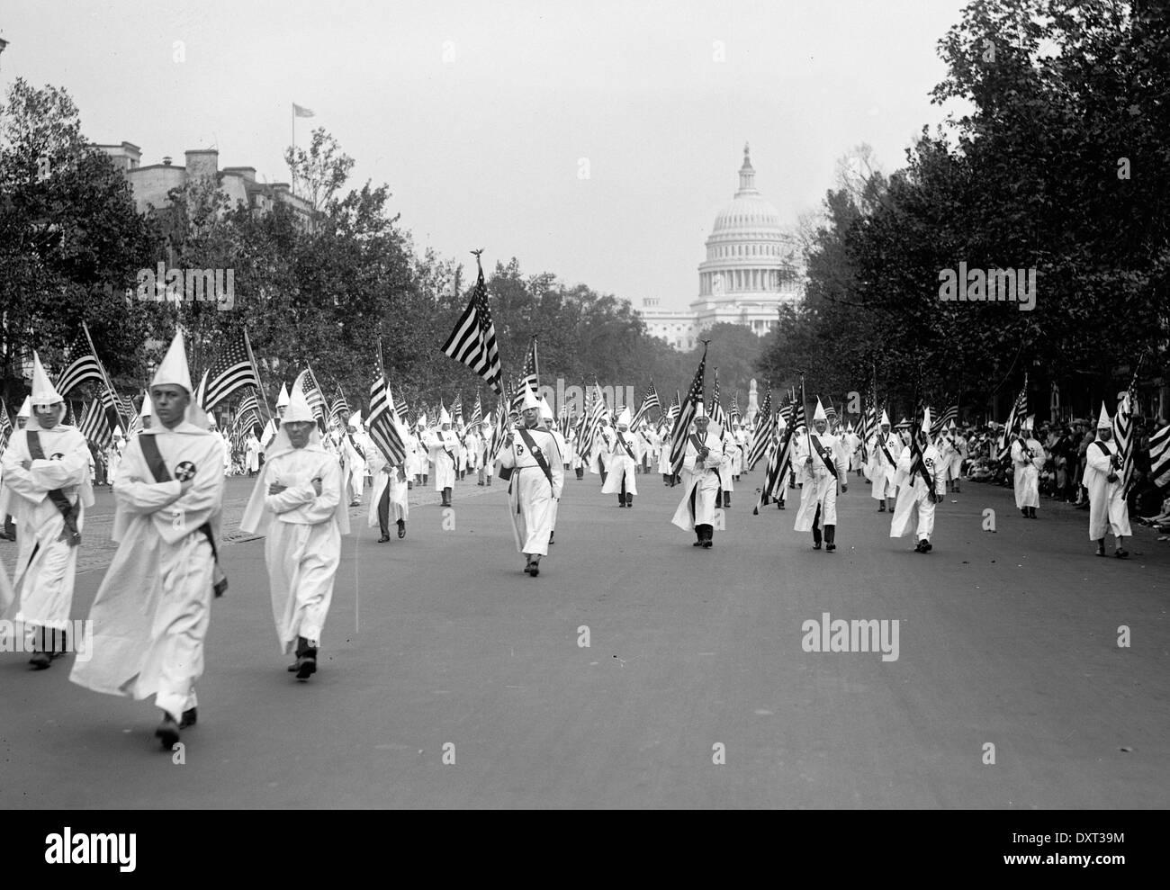 Ku Klux Klan parade, Washington DC, United States of America - Stock Image