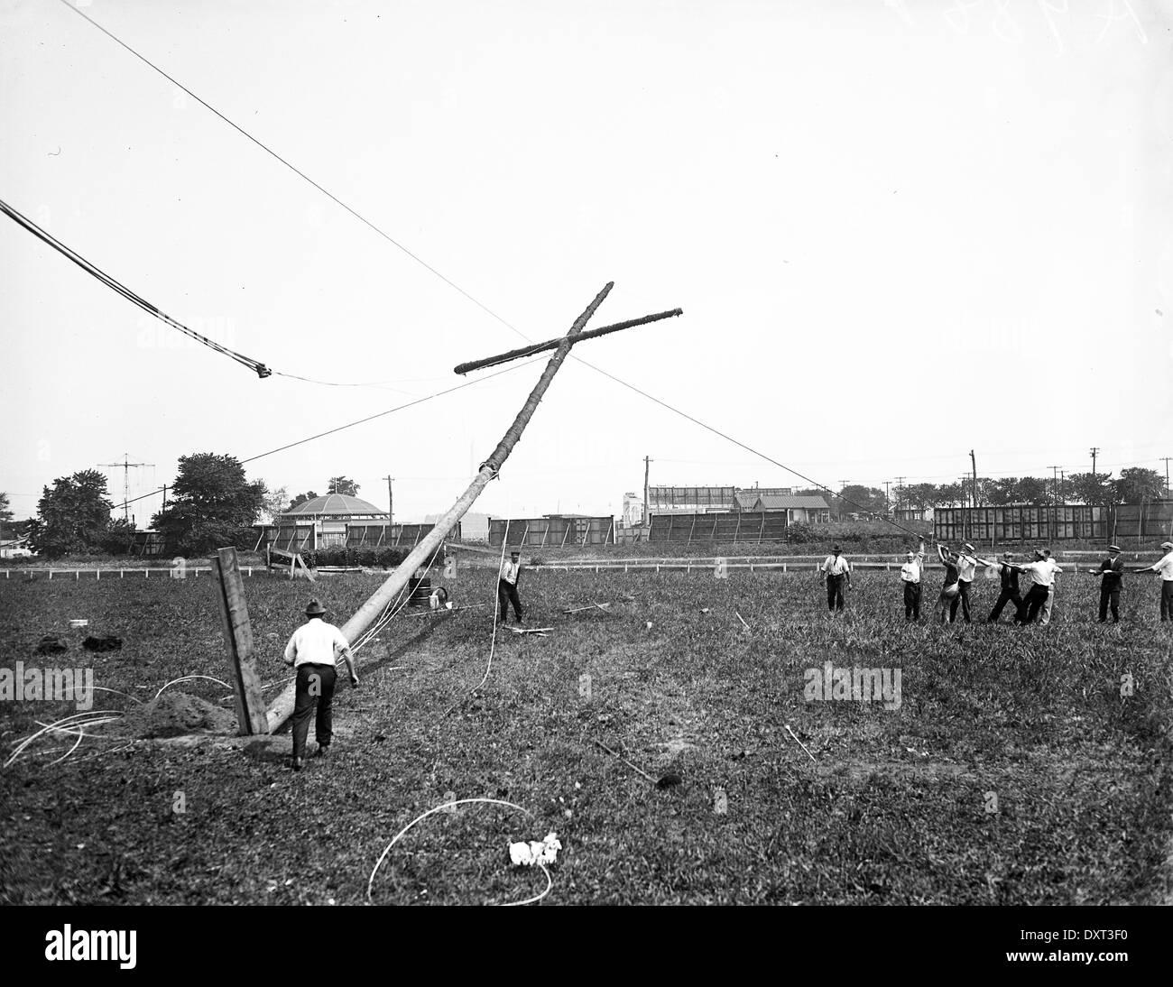 Ku Klux Klan Cross burning, United States of America - Stock Image