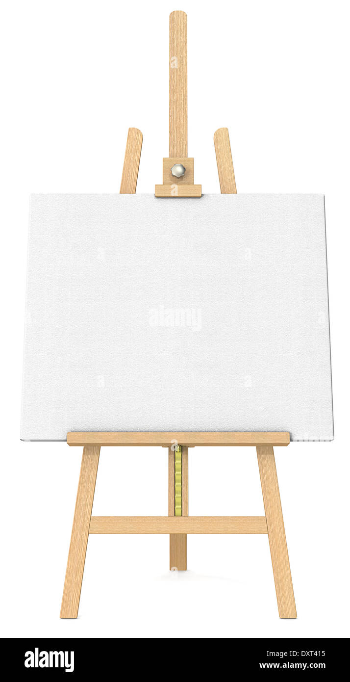 Front View Of An Easel And Canvas Stock Photo 68142177 Alamy