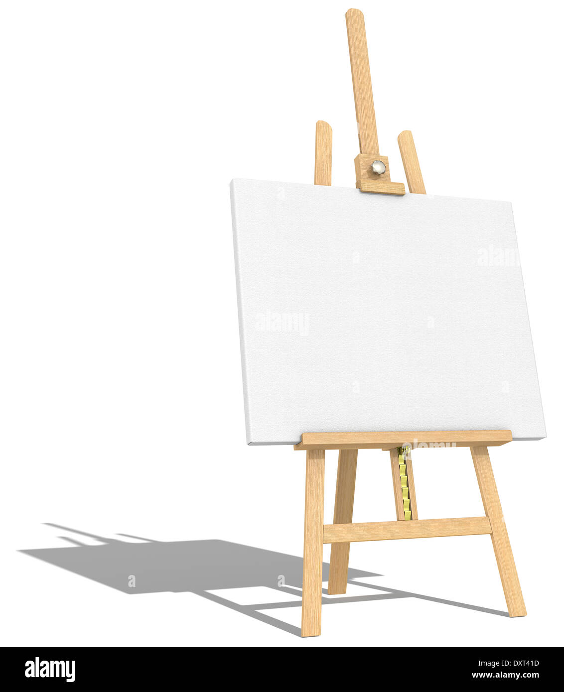 side view of an easel and canvas hard shadow stock photo 68142185