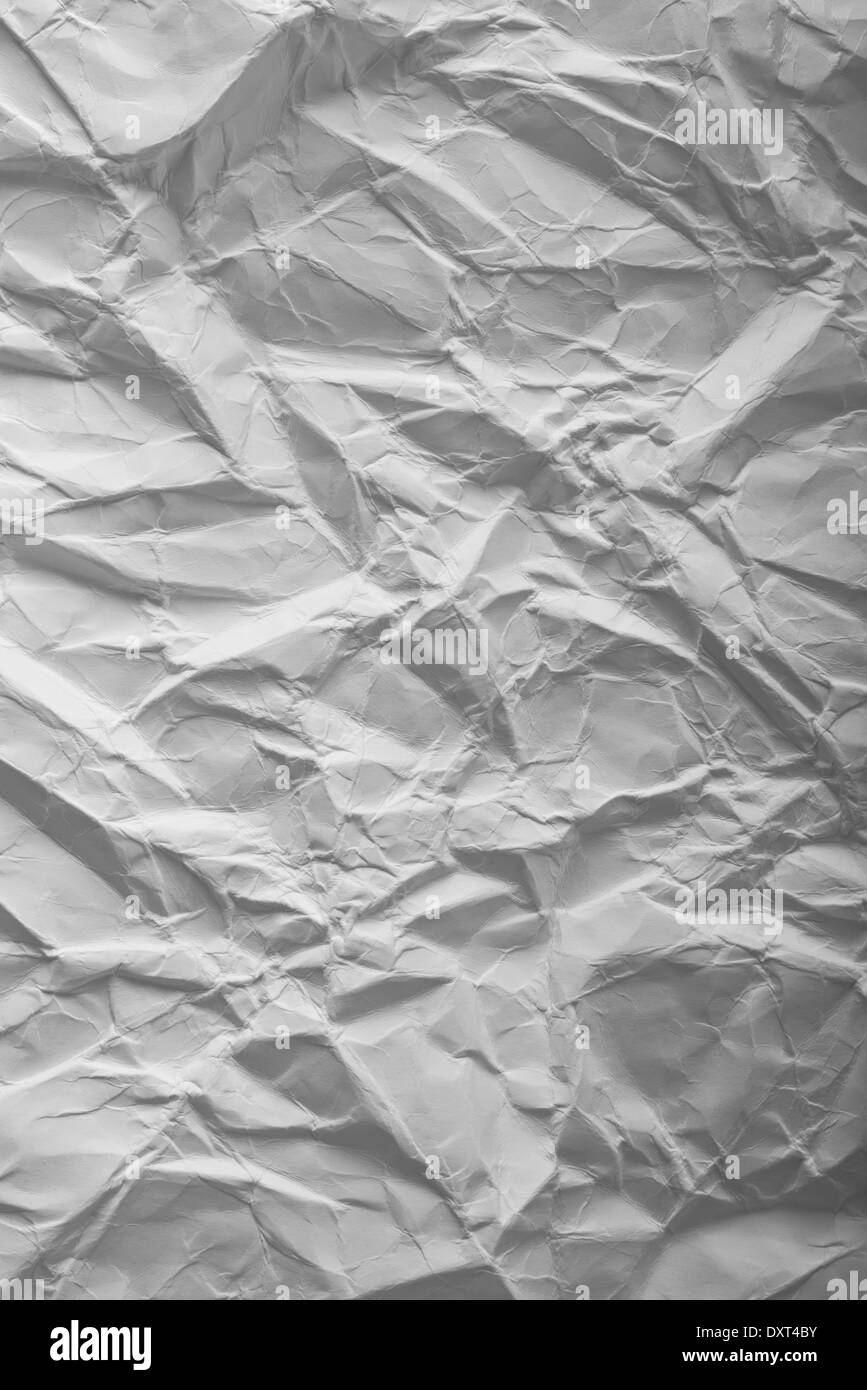 Crumpled paper texture as background for your design. - Stock Image