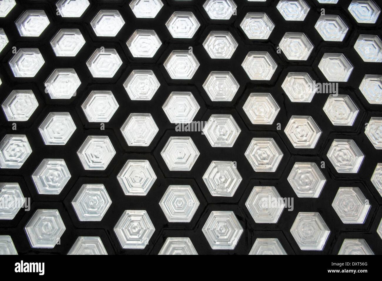 wall tiles glass - Stock Image