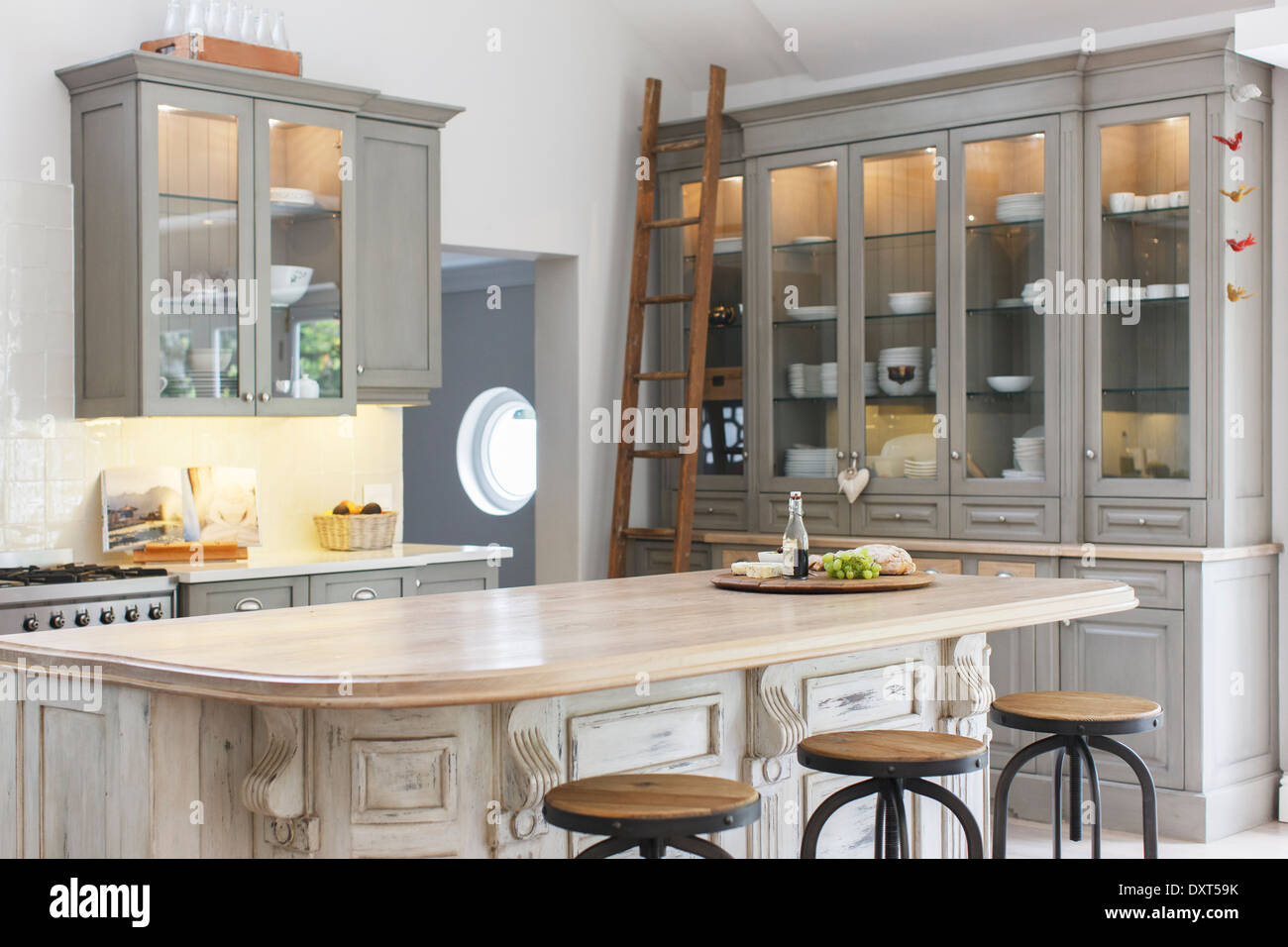 Luxury kitchen - Stock Image