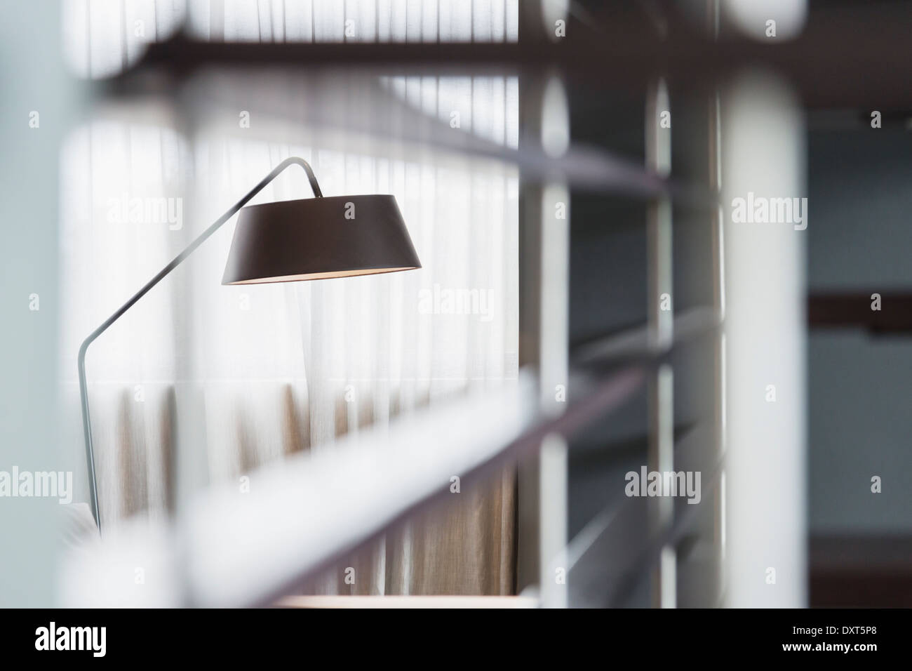 Lamp in living room - Stock Image