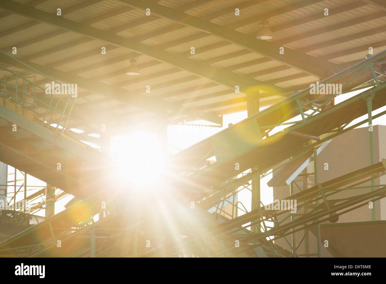 Sun shining through granary - Stock Image