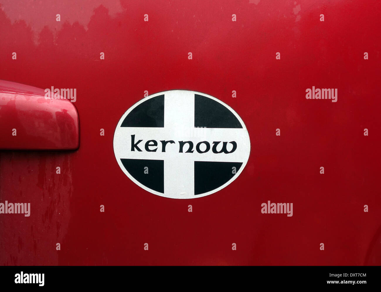 A ' Kernow '  ( the celtic name for cornwall ) car sticker - Stock Image