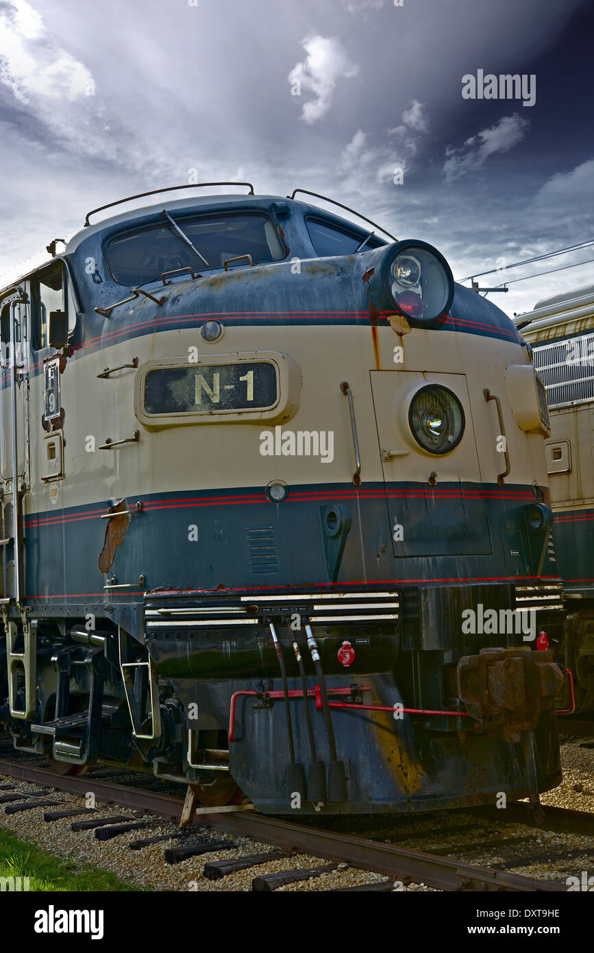 Vintage Train Engine Front Closeup American Railroad History Photography Collection
