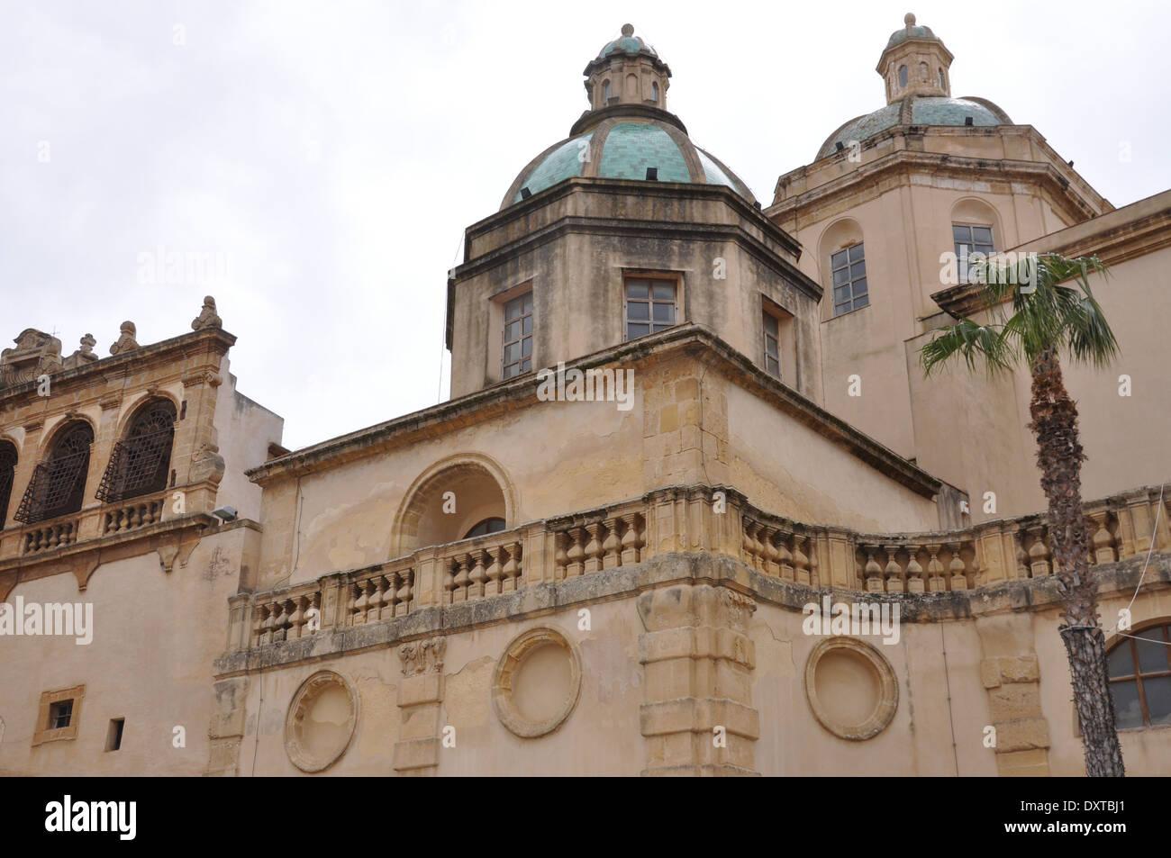 Cattedrale San Salvatore, Mazara del Vallo, Trapani, Sicily, Italy - Stock Image