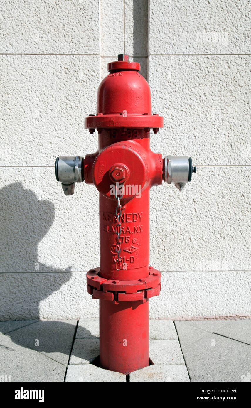 Kennedy Fire Hydrant in Imperial Wharf - London UK - Stock Image