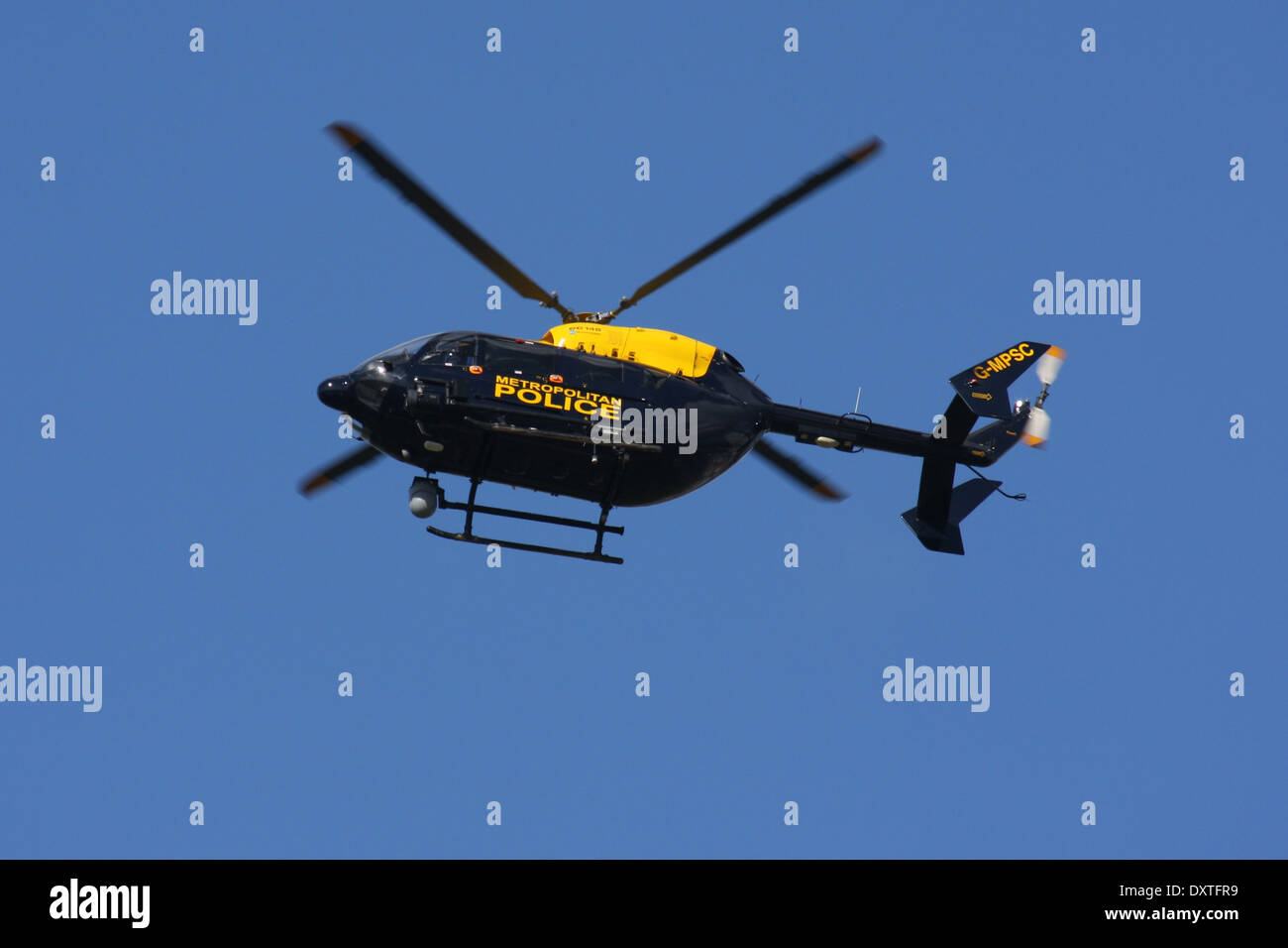 METROPOLITAN POLICE AIR SUPPORT UNIT EUROCOPTER EC145 - Stock Image