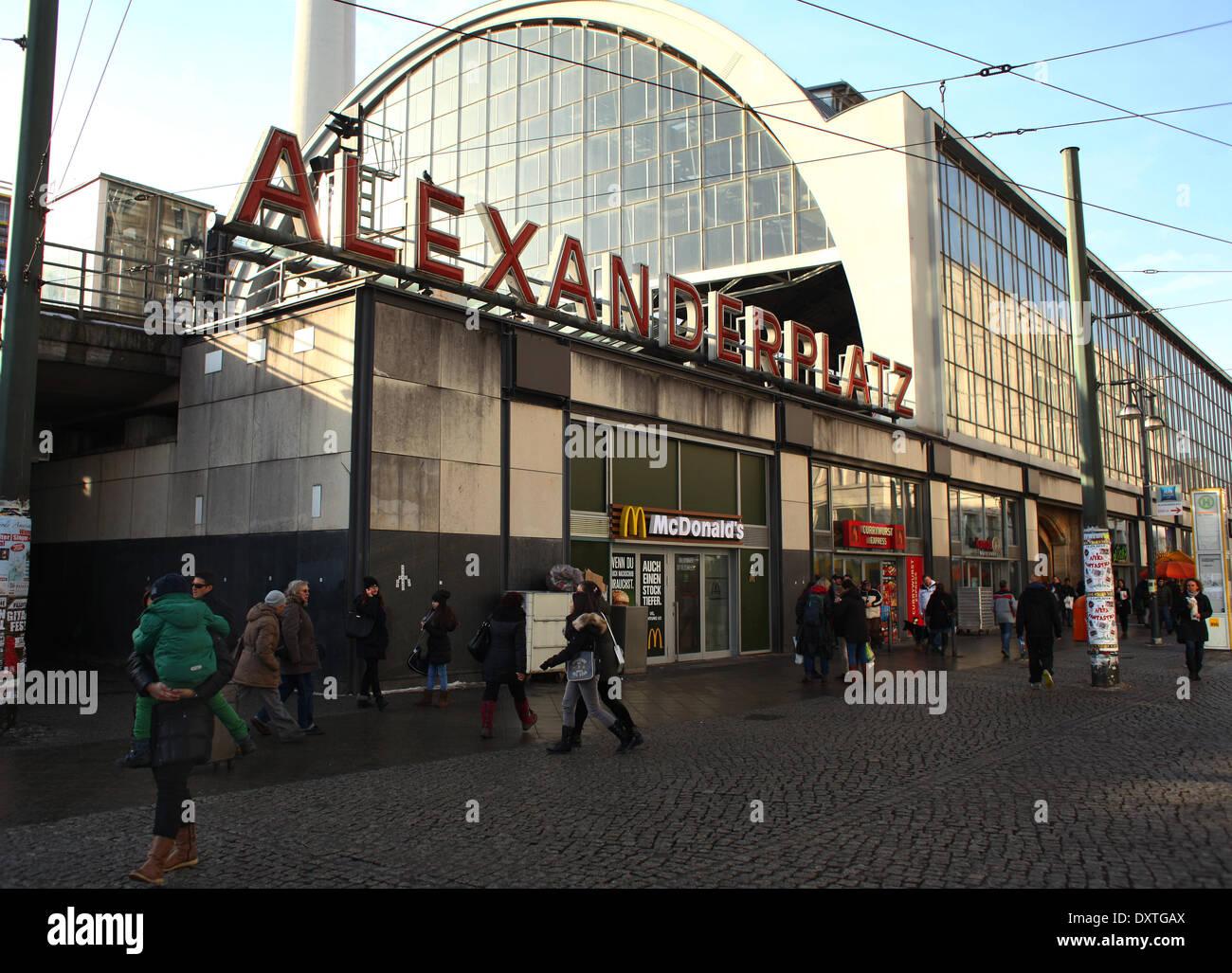 The S-Bahn station Berlin Alexanderplatz, pictured on February 02, 2014. Photo: Wolfram Steinberg dpa Stock Photo