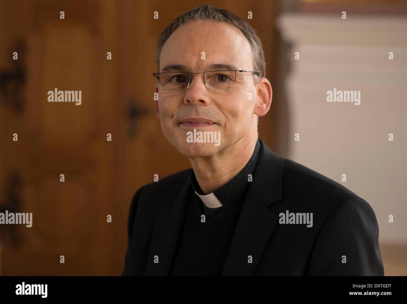 Bishop Franz-Peter Tebartz-van-Elst in the monastery Metten on 29 January 2014. Stock Photo