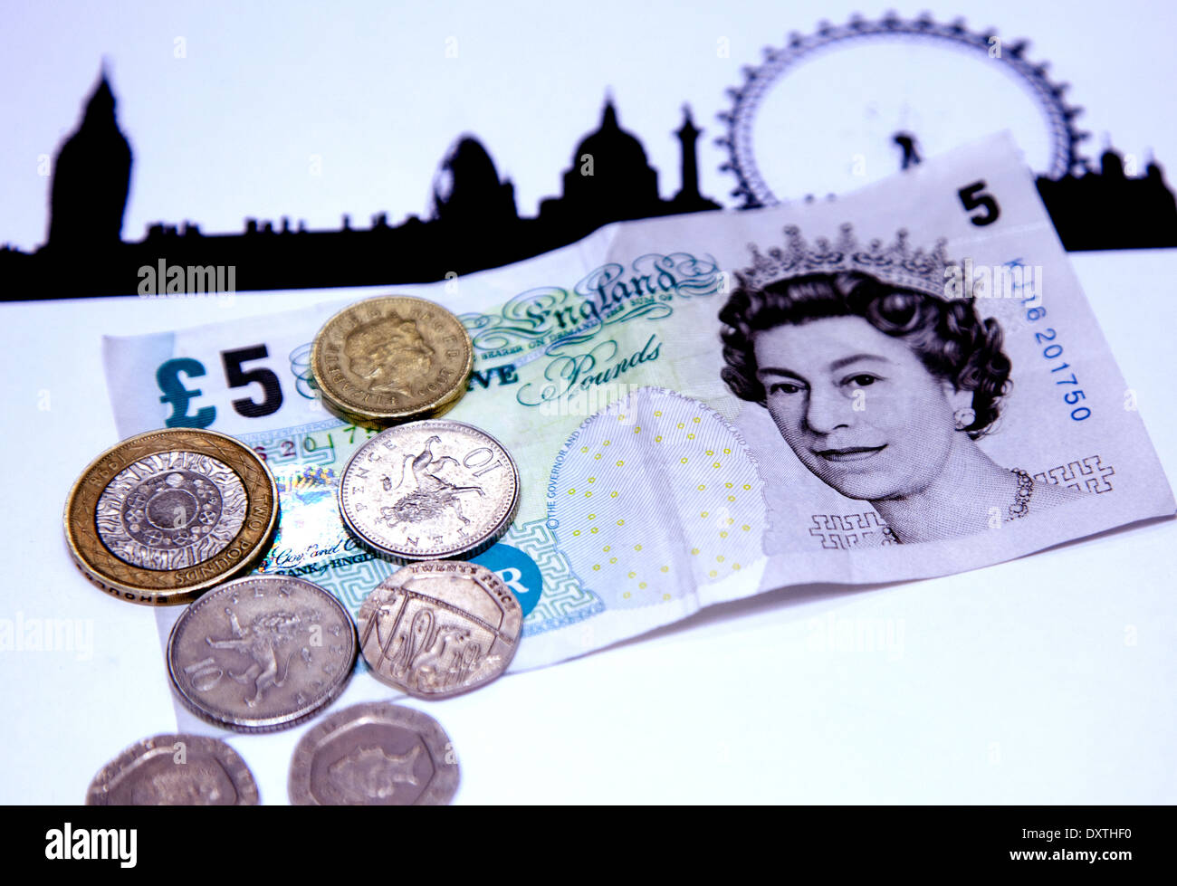 London Living Wage is currently £8.80 per hour (March 2014) - Stock Image