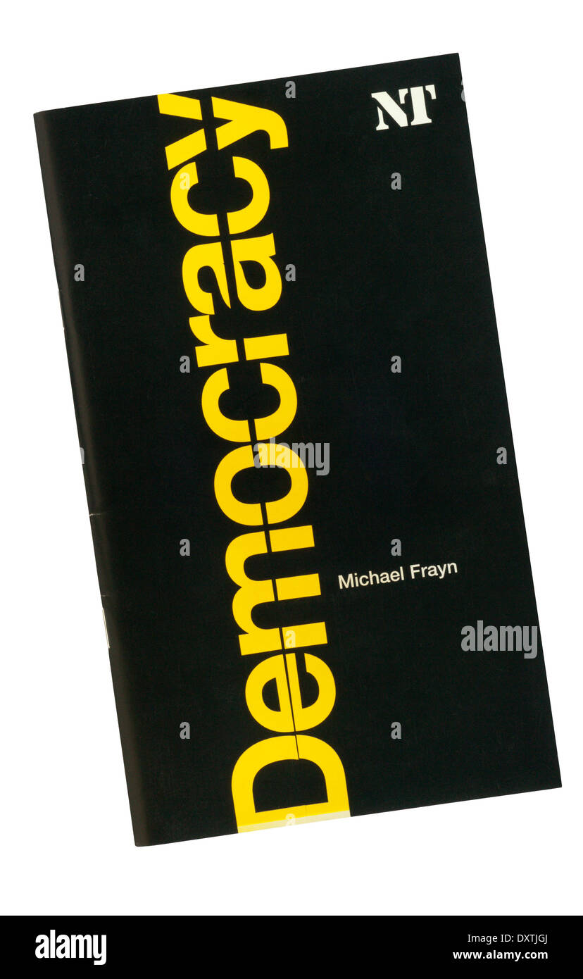Programme for the 2003 World Premiere of Democracy by Michael Frayn at the Cottesloe Theatre. - Stock Image
