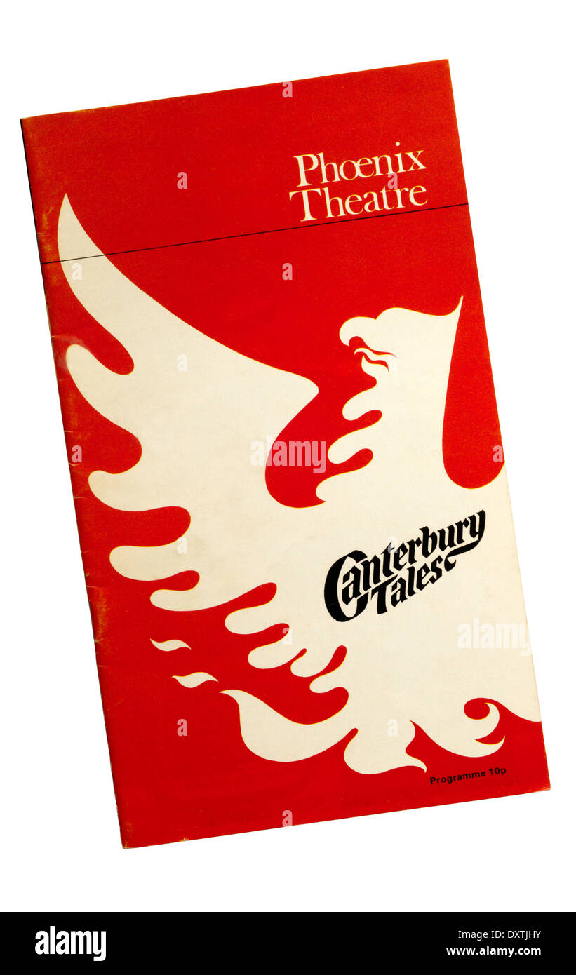 Programme for the 1968 production of Canterbury Tales at the Phoenix Theatre. - Stock Image