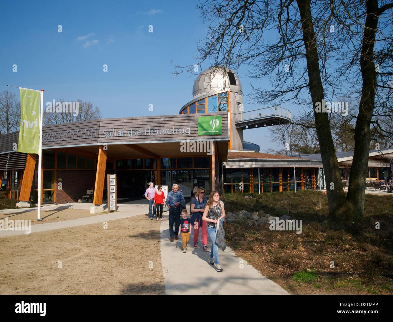 Sallandse Heuvelrug visitor center with observatory Nijverdal the Netherlands - Stock Image