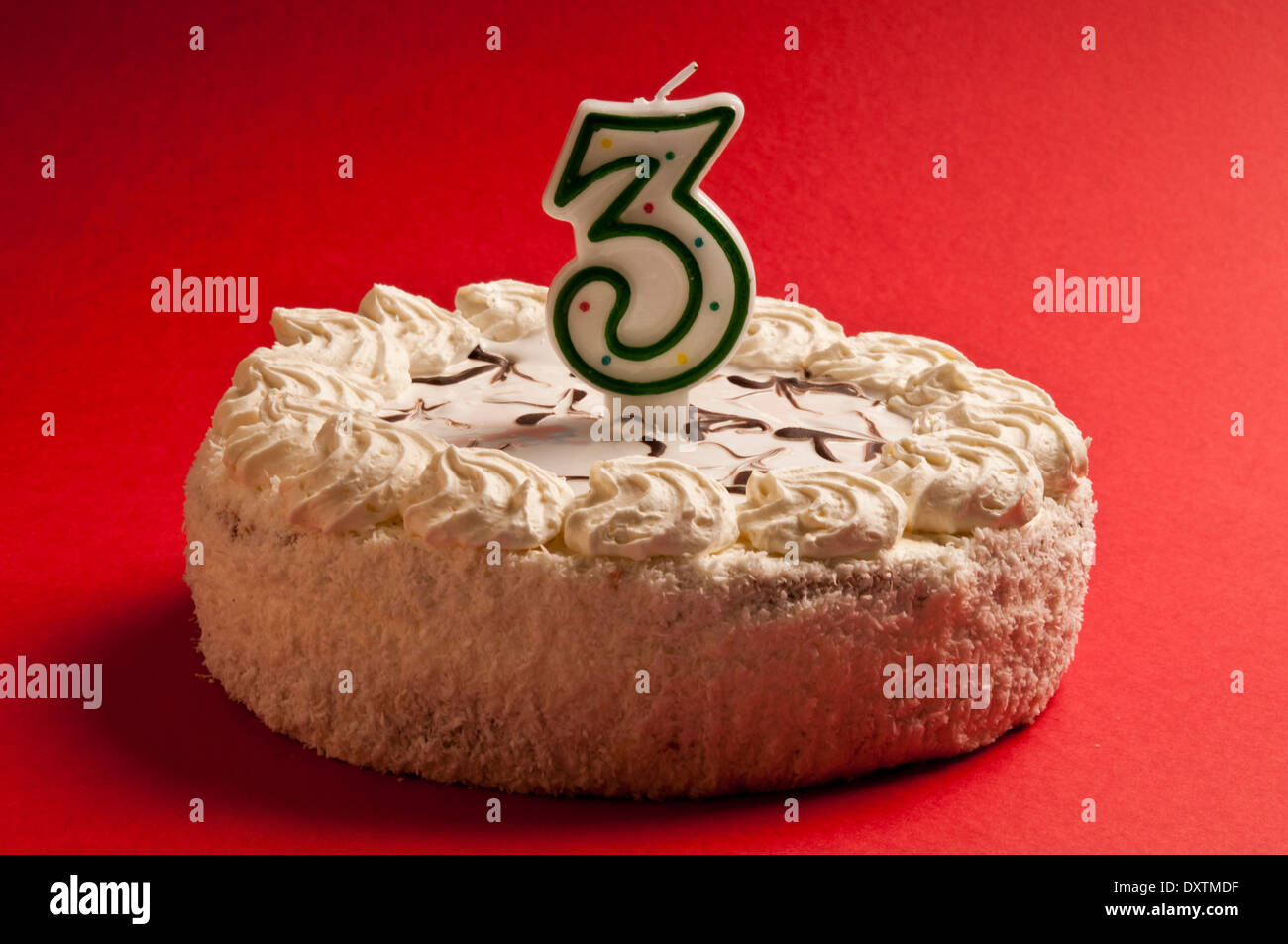 Birthday Cake With Candle Number