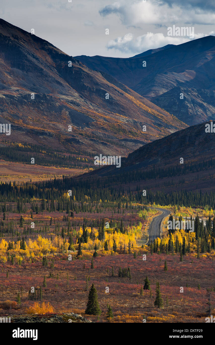 The Dempster Highway in Tombstone Territorial Park, Yukon Territories, Canada - Stock Image