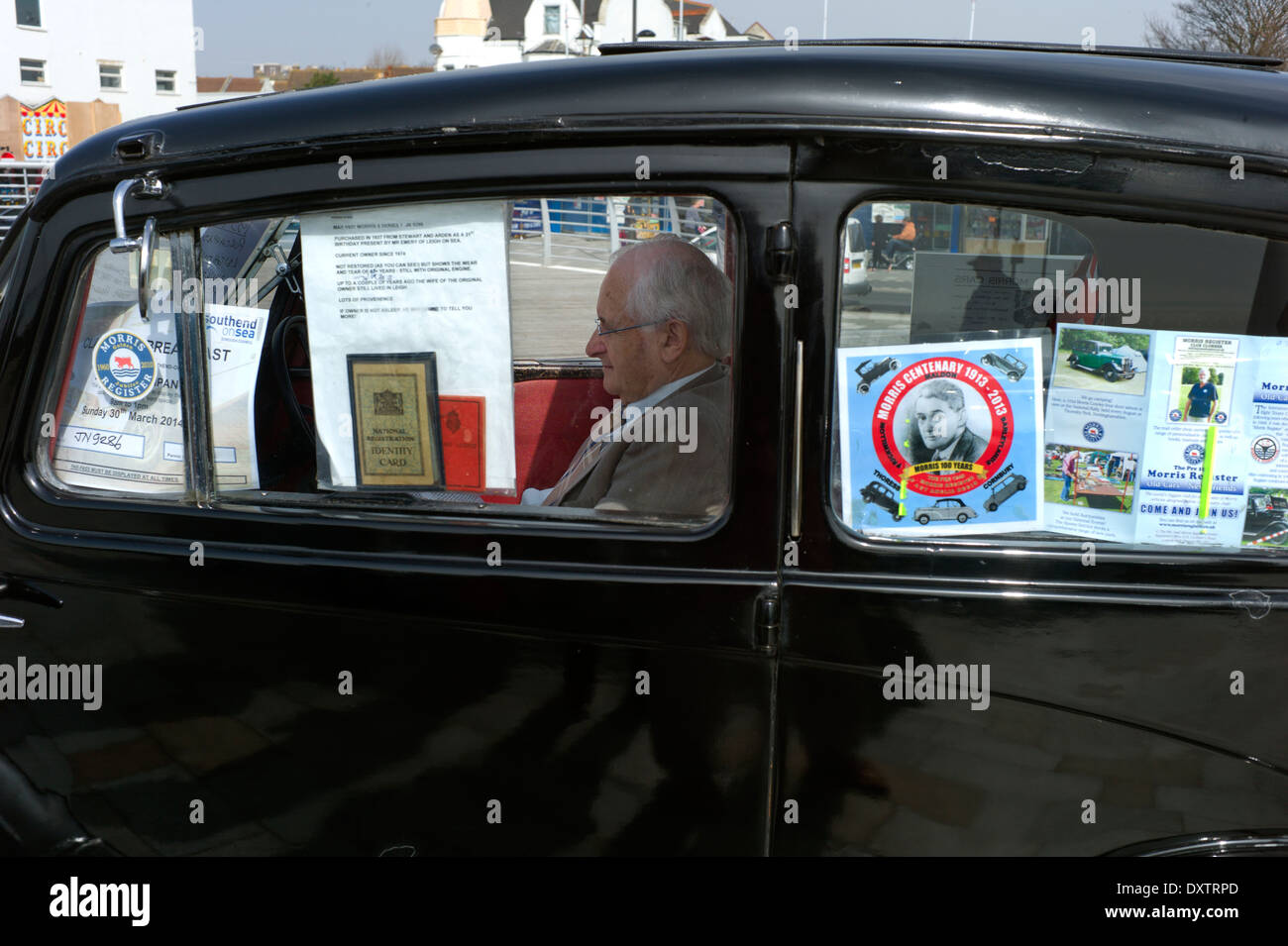 Southend-on-Sea, Essex, England. 30 March 2014 Exhibiting classic old cars. - Stock Image
