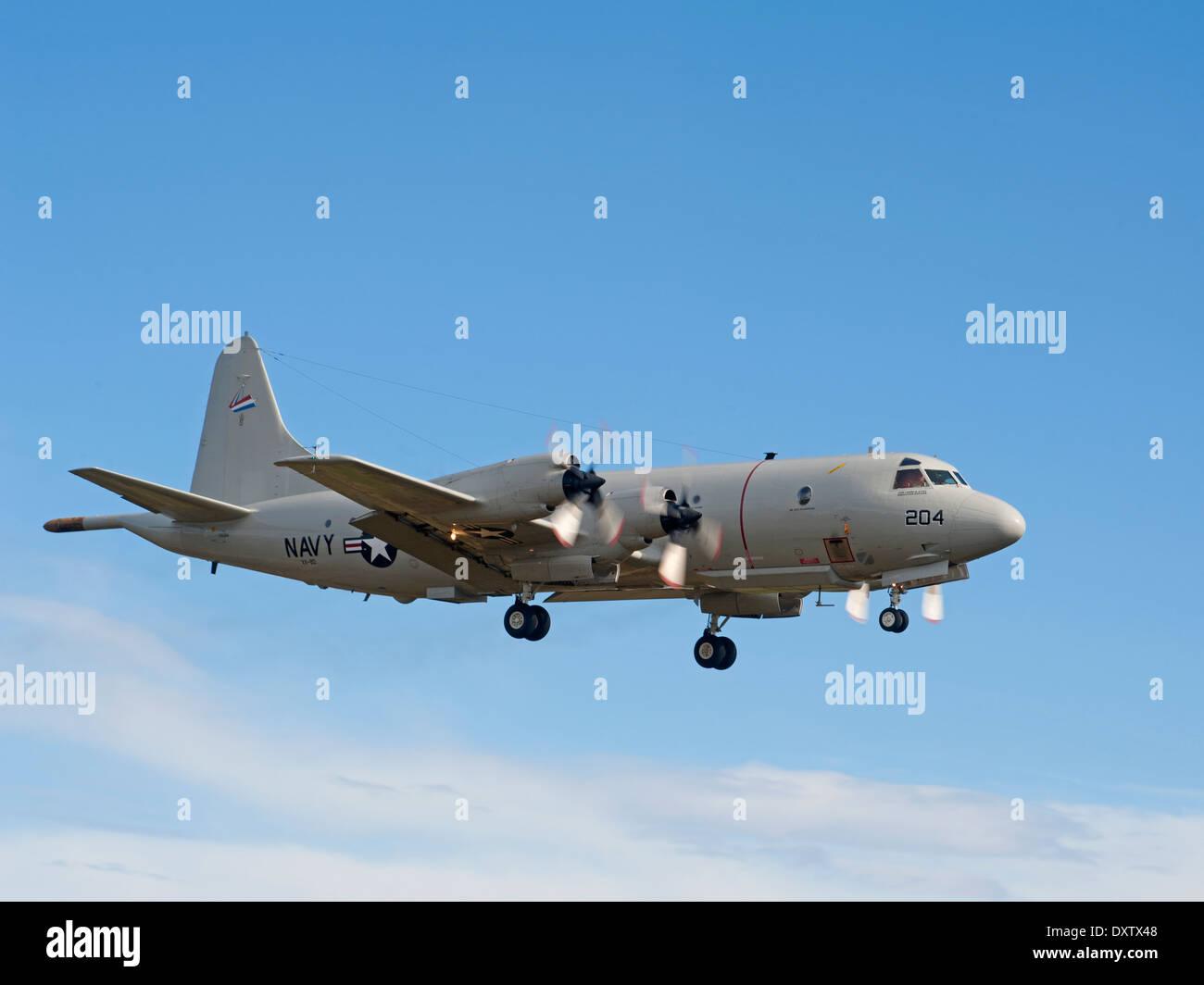 US Navy P-3C Orion Maritime Patrol Aircraft,   SCO 9027 Stock Photo