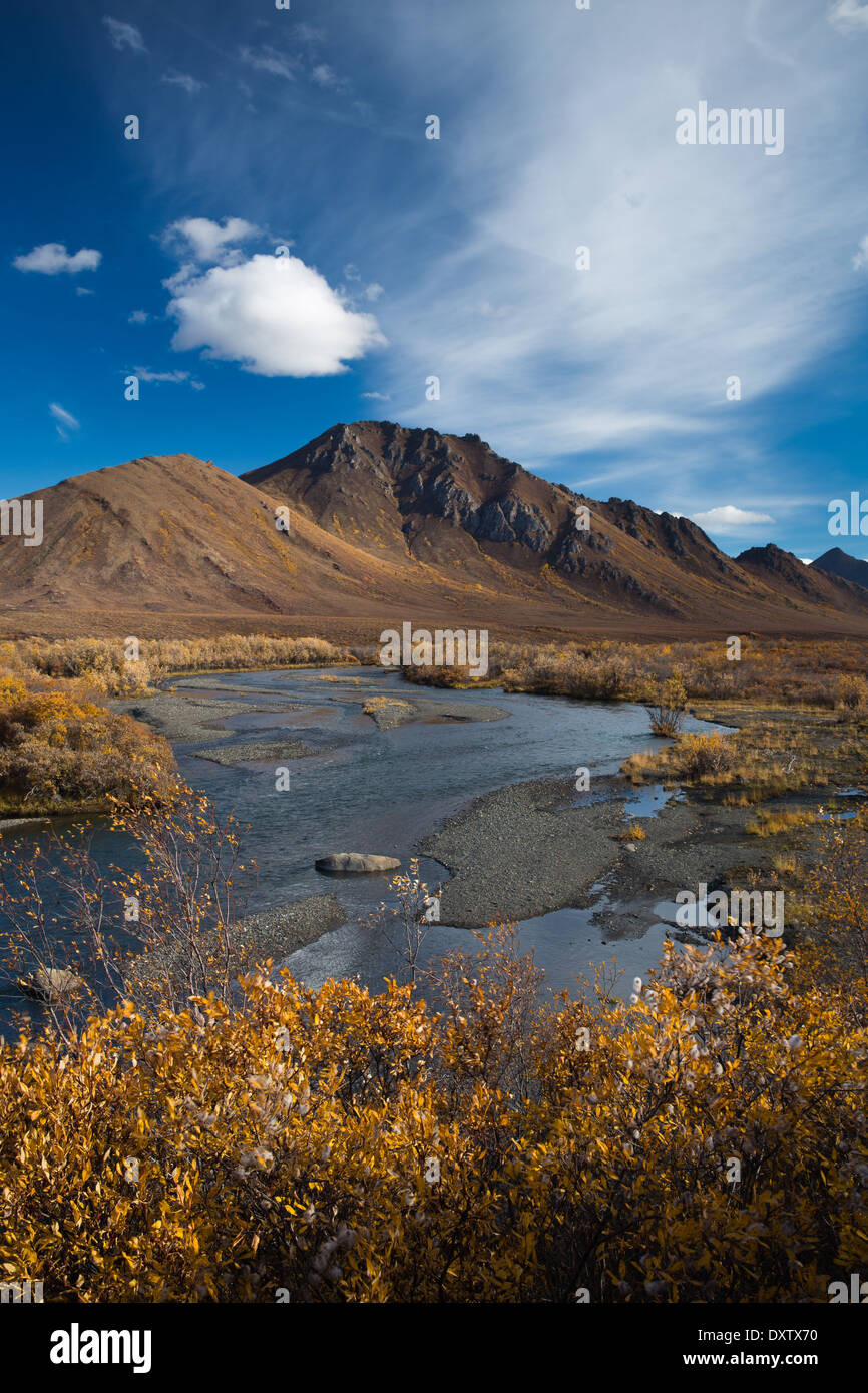 The Prospector Range in Tombstone Territorial Park, on the Dempster Highway, Yukon Territories, Canada - Stock Image
