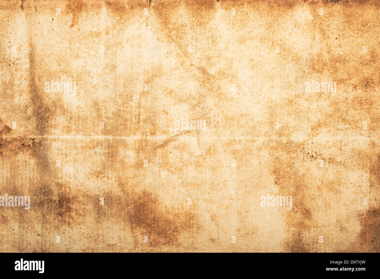 Dirty old parchment with spots and stripes  - Stock Image