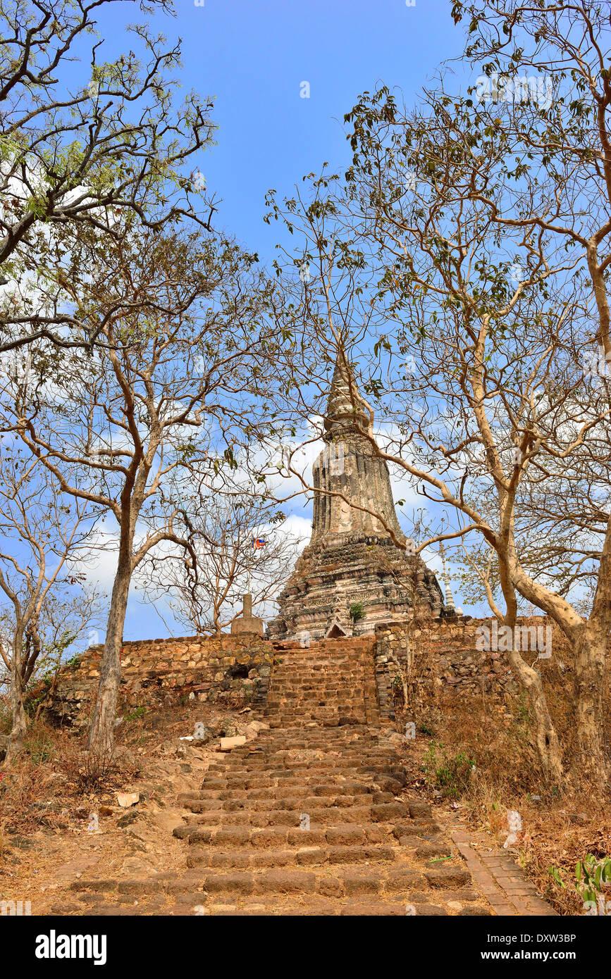 Angkorian temple  Wat Banan  near Battambang Cambodia - Stock Image