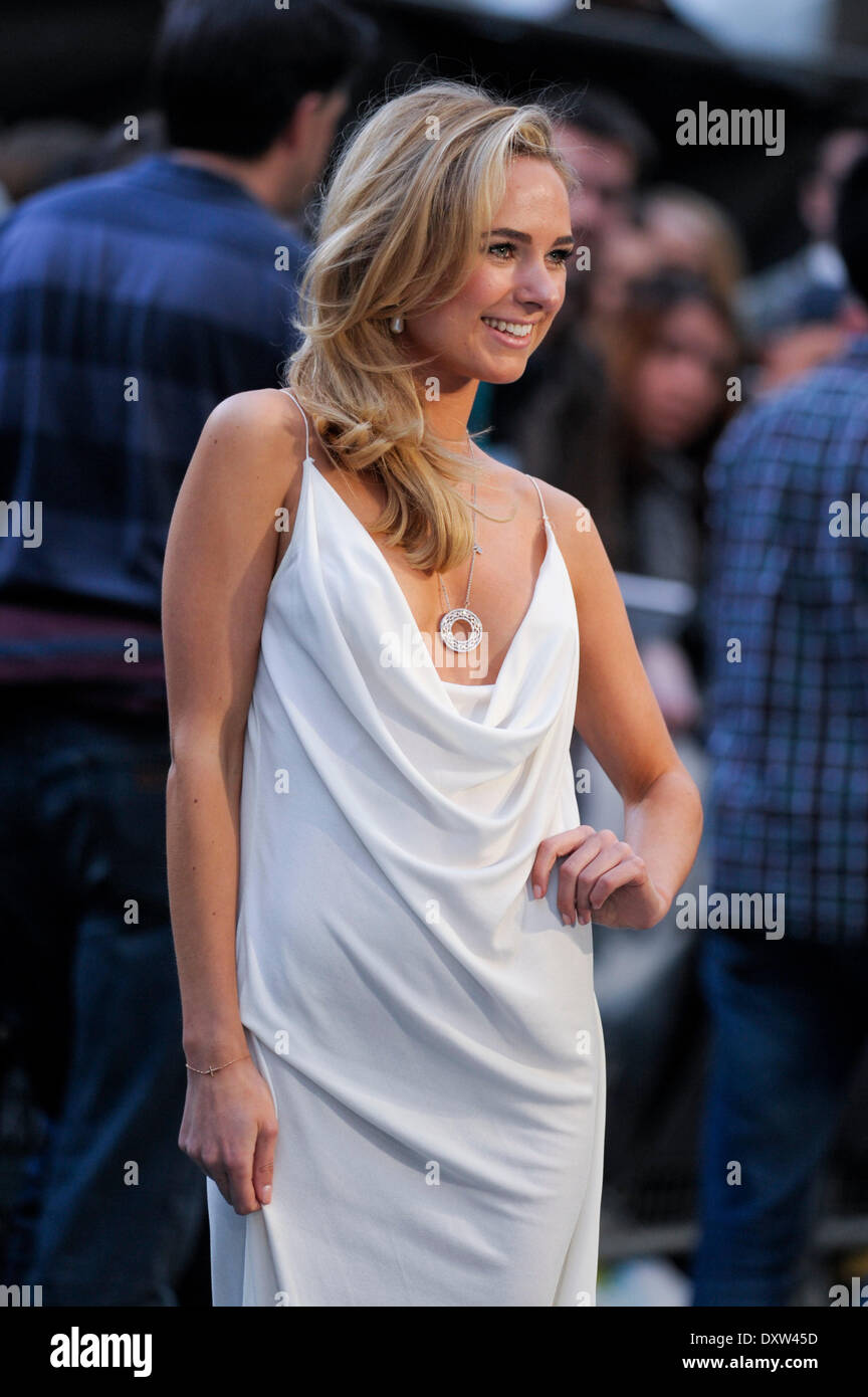 London, UK, 31/03/2014 : THE UK PREMIERE OF NOAH. Persons Pictured: Kimberley Garner. Credit:  Julie Edwards/Alamy Live News - Stock Image